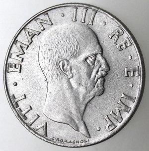 D/ Casa Savoia. Vittorio Emanuele III. 1900-1943.50 centesimi 1940 anno XVIII Impero. Magnetica. Ac. Gig. 185a. SPL.