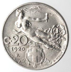 R/ Casa Savoia. Vittorio Emanuele III. 1900-1943.20 Centesimi 1920 Donna librata. Ni. Gig. 201.SPL/qFDC.