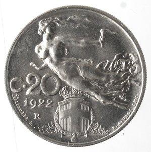 R/ Casa Savoia. Vittorio Emanuele III. 1900-1943. 20 centesimi 1922 Libertà librata. Ni. Gig. 203. qFDC.