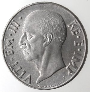 D/ Casa Savoia. Vittorio Emanuele III. 1900-1943.20 Centesimi 1940 Impero. Anno XVIII Magnetica. Ac. Gig. 220a.SPL+.