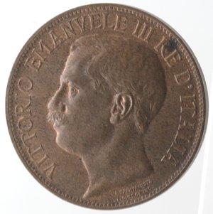 D/ Casa Savoia. Vittorio Emanuele III. 1900-1946.10 Centesimi 1911 Cinquantenario. Ae. Gig. 227. qFDC.
