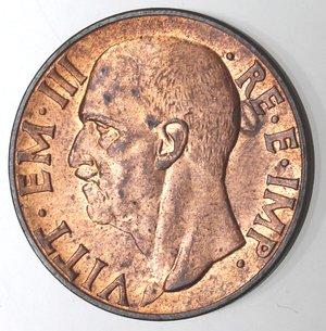 D/ Casa Savoia. Vittorio Emanuele III. 1900-1946.10 Centesimi 1939 XVII Impero del I° Tipo. Ae. Gig. 250. FDC. Rame rosso eccezionale.