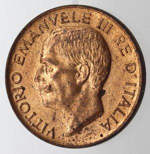 D/ Casa Savoia. Vittorio Emanuele III. 1900-1943.5 centesimi 1921 Spiga. Ae. Gig. 267. FDC. Rame rosso eccezionale.