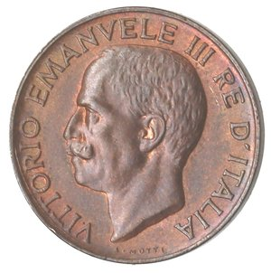 D/ Casa Savoia. Vittorio Emanuele III. 1900-1943.5 centesimi 1927 Spiga. Ae. Gig. 273. FDC.Rame rosso.