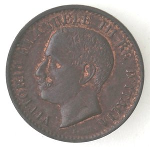 D/ Casa Savoia. Vittorio Emanuele III. 1900-1943.Centesimo 1904 Valore. Ae. Gig. 309.SPL.Tracce di rame rosso.