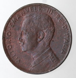 D/ Casa Savoia. Vittorio Emanuele III. 1900-1943.Centesimo 1914 Italia su prora. Ae. Gig. 318.SPL+.Rame rosso.