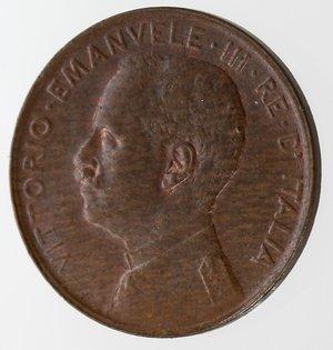 D/ Casa Savoia. Vittorio Emanuele III. 1900-1943.Centesimo 1917 Italia su prora. Ae. Gig. 321.qFDC.Rame rosso.NC.