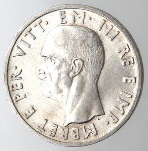 D/ Casa Savoia. Vittorio Emanuele III. Albania. 1900-1943. 5 Lek 1939 Anno XVII. Ag. Gig. 2. qFDC.