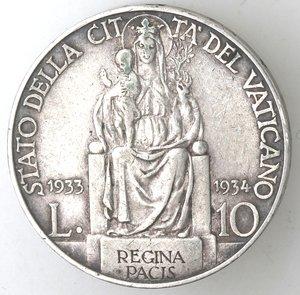 reverse: Pio XI. 1922-1939.10 lire per il Giubileo 1933-1934.AG.