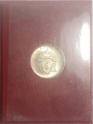 reverse: Sede vacante 1963. 500 lire. Ag.