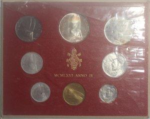 obverse: Vaticano. Paolo VI. 1963-1978. Serie divisionale 1966 Anno IV.