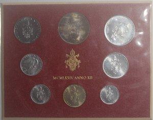obverse: Vaticano. Paolo VI. 1963-1978. Serie divisionale 1974 Anno XII.