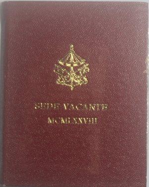 obverse: Sede Vacante 1978. 500 lire. Ag.