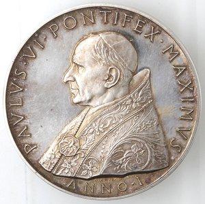 D/ Medaglie. Roma. Paolo VI. 1963-1978.Giovanni Battista Montini. Medaglia annuale, A. I. Ag. Diametro mm. 44.qFDC. RR.