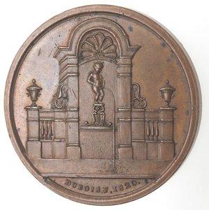 D/ Medaglie. Belgio. Medaglia 1820. Ae. Per la costruzione della fontana