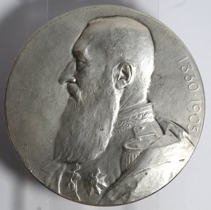 D/ Medaglie. Belgio. Leopoldo II. Medaglia 1905. Ag. Per il 75° Anniversario dell'indipendenza del Belgio. Diametro mm. 69. Peso gr. 118. qFDC.