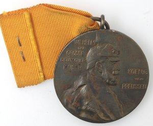 D/ Medaglie. Prussia. Medaglia 1897. Ae. Per il centenario del Kaiser Wilhelm I. Diametro mm. 39. Macchie altrimenti SPL+. Con nastrino.