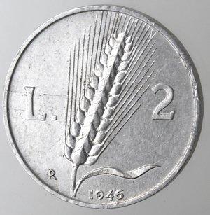 reverse: Repubblica Italiana. 2 lire 1946 Spiga. It.