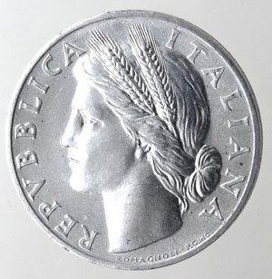 obverse: Repubblica Italiana. 1 lira 1948 Arancia. It. Gig 363. qFDC. Perizia Marco Esposito.