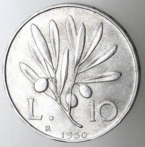 reverse: Repubblica Italiana.10 Lire 1950 Ulivo. It.