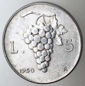 reverse: Repubblica Italiana. 5 lire 1950 Uva. It.