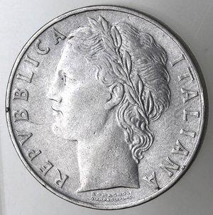 obverse: Repubblica Italiana. 100 lire 1955. Ac.