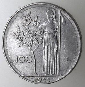 reverse: Repubblica Italiana. 100 lire 1955. Ac.