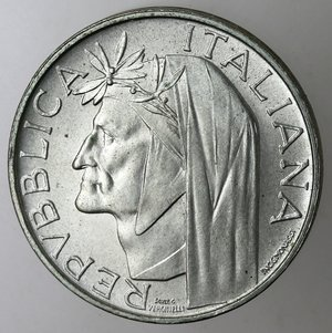 obverse: Repubblica Italiana. 500 Lire 1965 Dante. Ag.