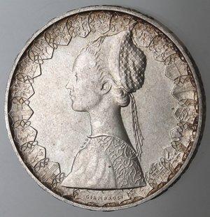 obverse: Repubblica Italiana. 500 Lire 1966. Ag.