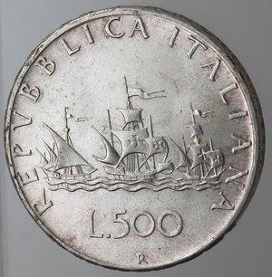 reverse: Repubblica Italiana.500 Lire 1967 Caravelle. Ag.