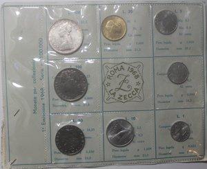 obverse: Repubblica Italiana. Serie divisionale 1968. 9 valori con 500 Lire. Ag.