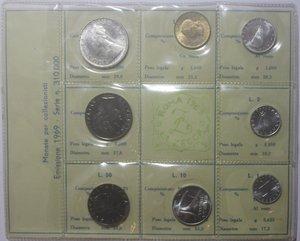 obverse: Repubblica Italiana. Serie divisionale 1969. 8 valori con 500 Lire. Ag.