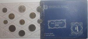 obverse: Repubblica Italiana. Serie divisionale della Zecca 1981. Con 500 Lire. Ag.