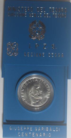 obverse: Repubblica Italiana. 500 Lire 1982 Garibaldi. Ag.