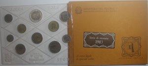 obverse: Repubblica Italiana. Serie divisionale della Zecca 1983. Con 500 Lire. Ag.