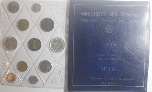 obverse: Repubblica Italiana. Serie divisionale della Zecca 1986. Con 500 Lire. Ag.