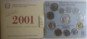 obverse: Repubblica Italiana. Serie divisionale della Zecca 2001. Con 500 Lire. Ag.
