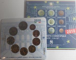 obverse: Repubblica Italiana. Serie divisionale della Zecca 2010. 9 Valori.