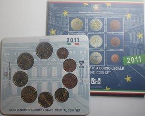 obverse: Repubblica Italiana. Serie divisionale della Zecca 2011. 9 Valori.