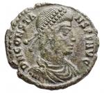 D/ Impero Romano - Costante (337-350) Folliszecca di Siscia D/ D N CONSTANS P F AVG, Busto diademato a destra. R/ FEL TEMP REPARATIO, fenice stante su gradini. Gr. 1,96. AE. RIC 232. BB+