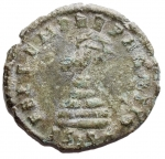 R/ Impero Romano - Costante (337-350) Folliszecca di Siscia D/ D N CONSTANS P F AVG, Busto diademato a destra. R/ FEL TEMP REPARATIO, fenice stante su gradini. Gr. 1,96. AE. RIC 232. BB+