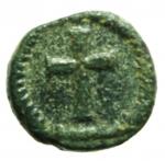 R/ Impero Romano. Leone I. 457-474 d.C. Minimale.Mediolanum. Ae4. D/ Testa di Leo I verso destra. R/ Croce in corona . Peso 1,10 gr. Diametro 9,22 mm.MB\BB.