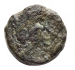 D/ Impero Romano - Zeno (474-491).AE Nummo. Constantinopoli (?) Secondo regno, 476-491 dc.d/ busto a ds r/ Monogramma. gr 1,04. qBB. Raro