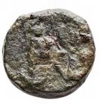 R/ Impero Romano - Zeno (474-491).AE Nummo. Constantinopoli (?) Secondo regno, 476-491 dc.d/ busto a ds r/ Monogramma. gr 1,04. qBB. Raro