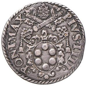 obverse: Ancona. Pio IV (1559-1565). Testone AG gr. 9,37. Muntoni 46. Berman 1072. Dubbini-Mancinelli pag. 144 (2° tipo). MIR 1060/2. Patina di medagliere, migliore di BB