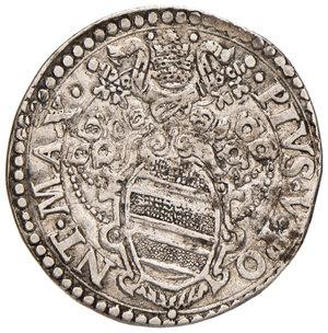 obverse: Ancona. Pio V (1566-1572). Testone AG gr. 9,44. Muntoni 32. Berman 1105. Dubbini-Mancinelli pag. 146 (2° tipo). MIR 1097/2. Bei fondi, buon BB