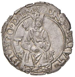 Napoli. Federico III d'Aragona (1496-1501). Mezzo carlino AG gr. 1,80. P.R. 8. MIR 107. Vall-Llosera i Tarres 325a var. 1. Molto raro. Leggera patina iridescente e conservazione notevolissima per questo tipo di moneta, q.SPL