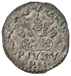 obverse: Ancona. Pio V (1566-1572). Quattrino MI gr. 0,56. Muntoni 37. Berman 1108. Dubbini-Mancinelli pag. 147. MIR 1099/1. SPL