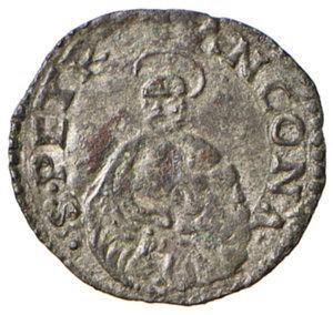 reverse: Ancona. Pio V (1566-1572). Quattrino MI gr. 0,56. Muntoni 37. Berman 1108. Dubbini-Mancinelli pag. 147. MIR 1099/1. SPL