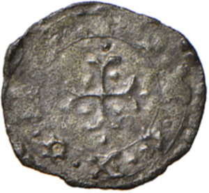 reverse: Ancona. Gregorio XIII (1572-1585). Mezzo quattrino 1574 MI gr. 0,33. Muntoni 337. Berman 1237. Dubbini-Mancinelli pag. 166. MIR 1236/1. Rarissimo. Più di BB